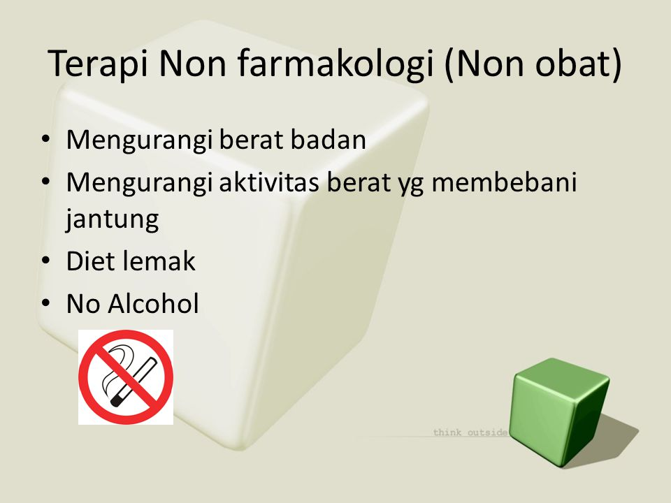 Terapi Non farmakologi (Non obat)