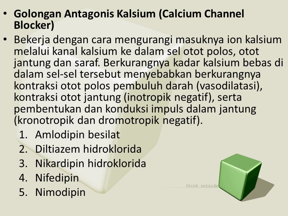 Golongan Antagonis Kalsium (Calcium Channel Blocker)