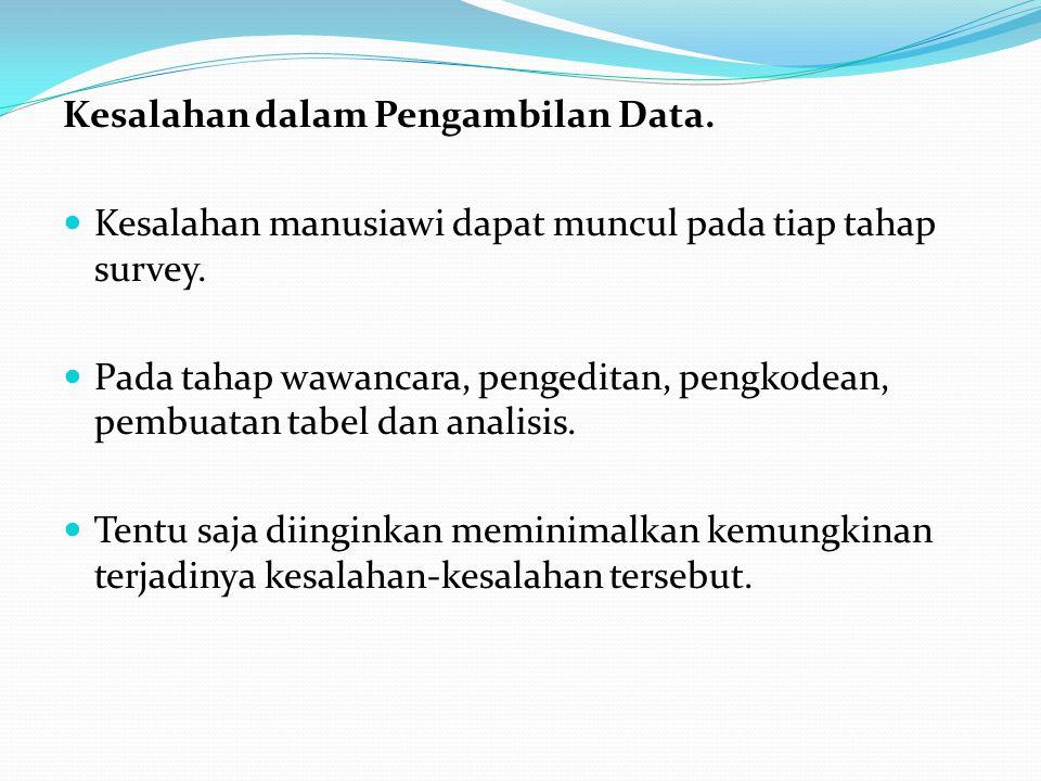 Kesalahan dalam Pengambilan Data.