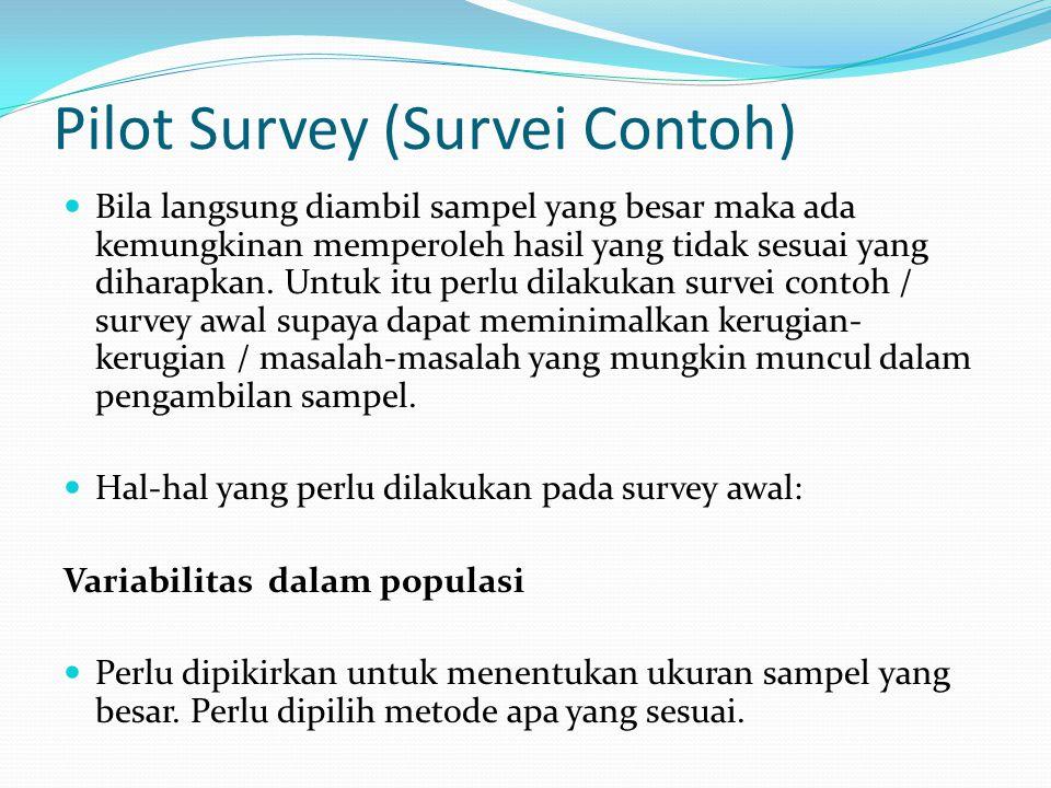 Pilot Survey (Survei Contoh)