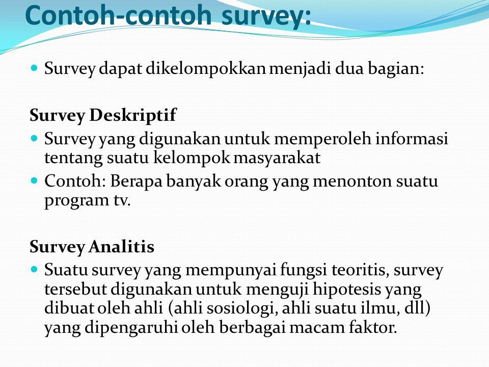 Contoh-contoh survey: