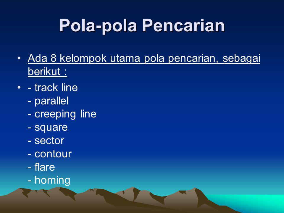 Pola-pola Pencarian Ada 8 kelompok utama pola pencarian, sebagai berikut :