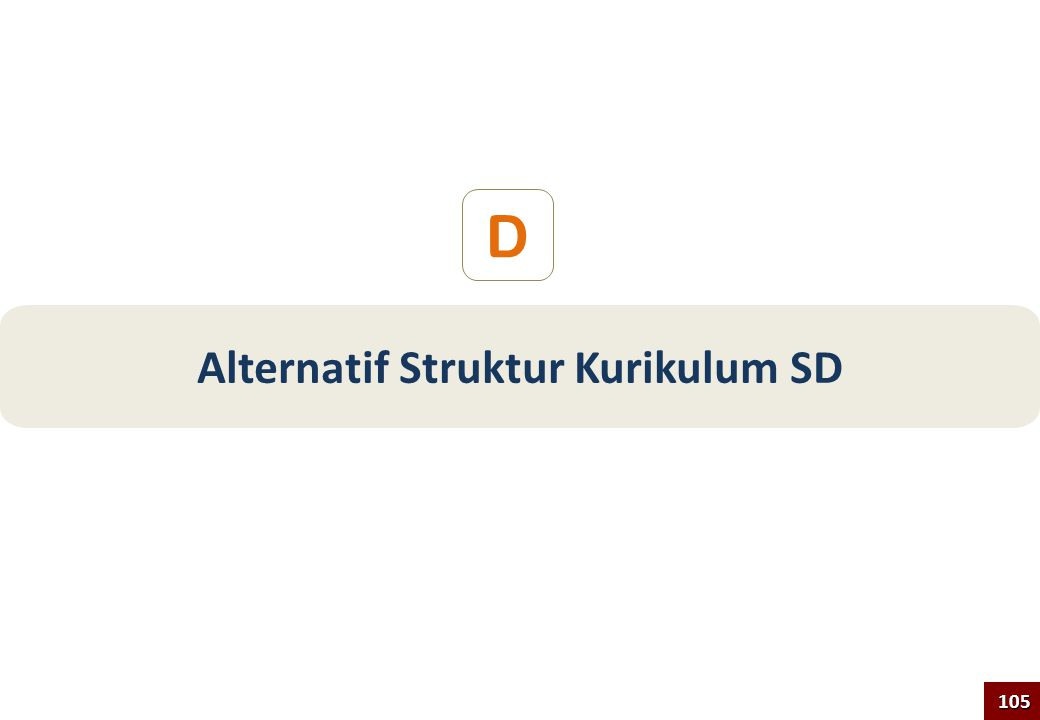 D Alternatif Struktur Kurikulum SD 105