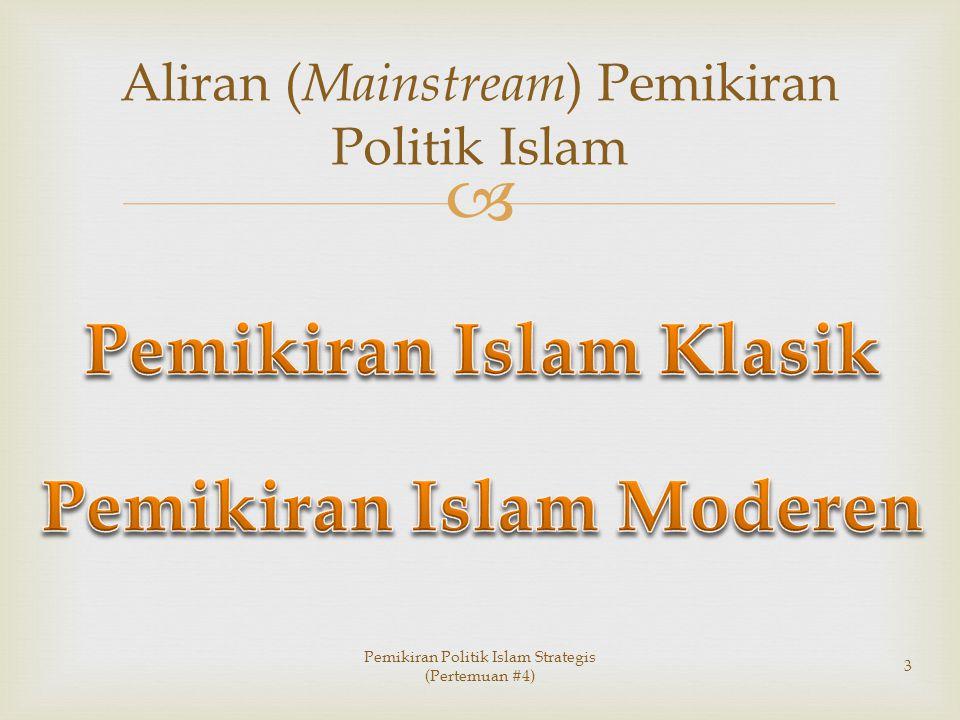 Aliran (Mainstream) Pemikiran Politik Islam