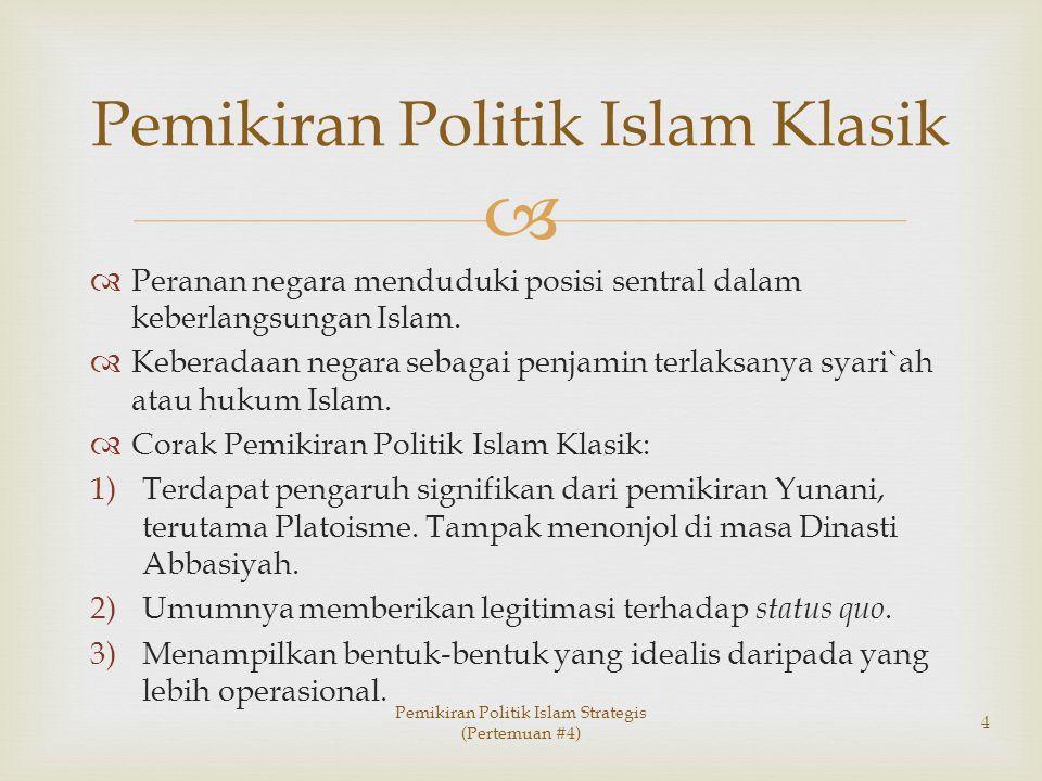 Pemikiran Politik Islam Klasik