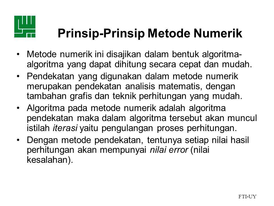 Prinsip-Prinsip Metode Numerik