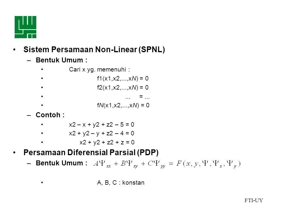 Sistem Persamaan Non-Linear (SPNL)