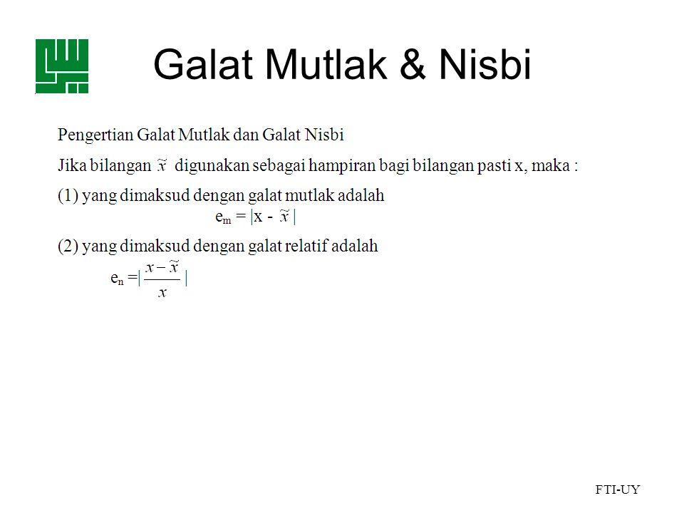 Galat Mutlak & Nisbi