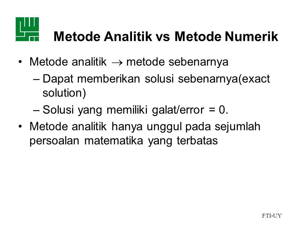 Metode Analitik vs Metode Numerik