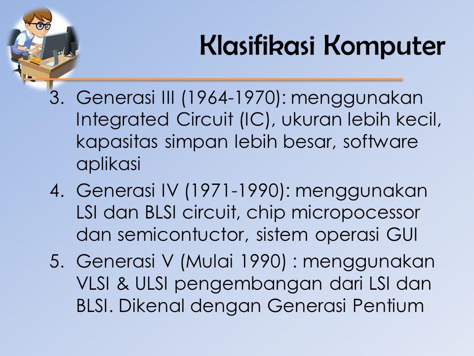 Klasifikasi Komputer