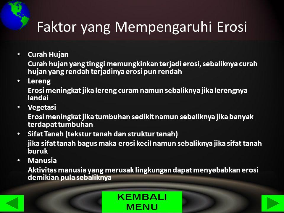 Faktor yang Mempengaruhi Erosi