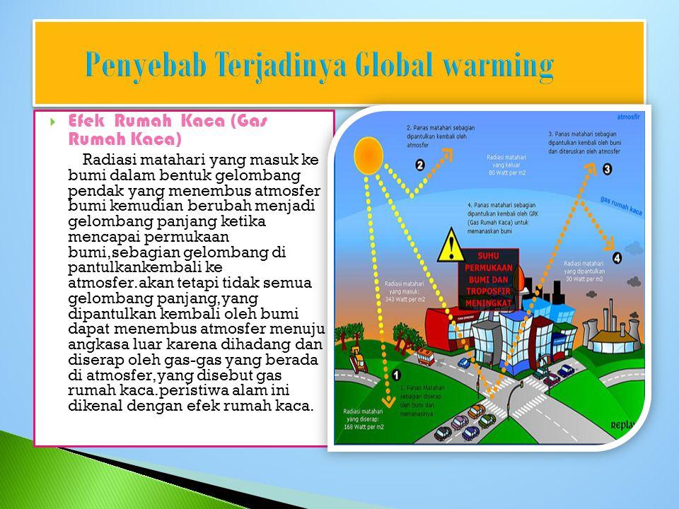 Penyebab Terjadinya Global warming
