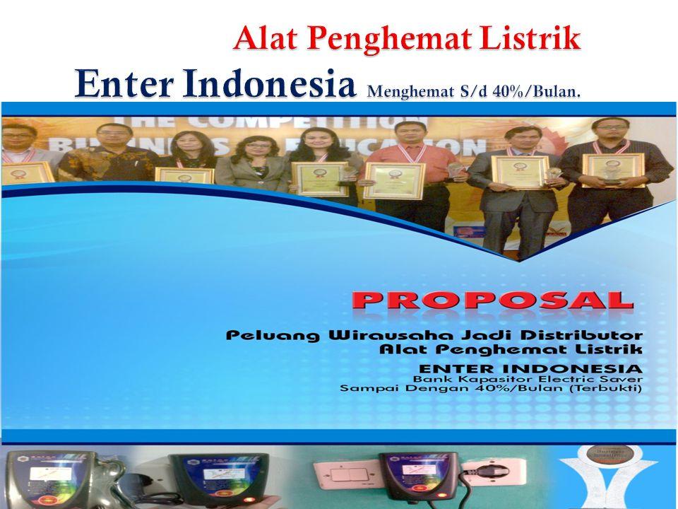 Alat Penghemat Listrik Enter Indonesia Menghemat S/d 40%/Bulan.