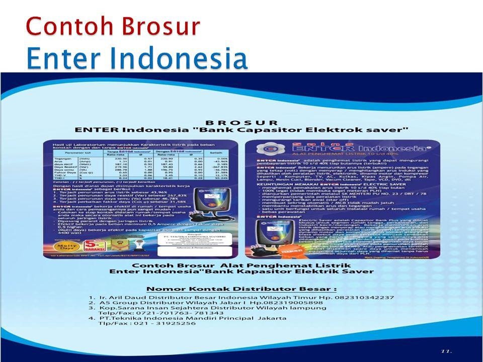 Contoh Brosur Enter Indonesia
