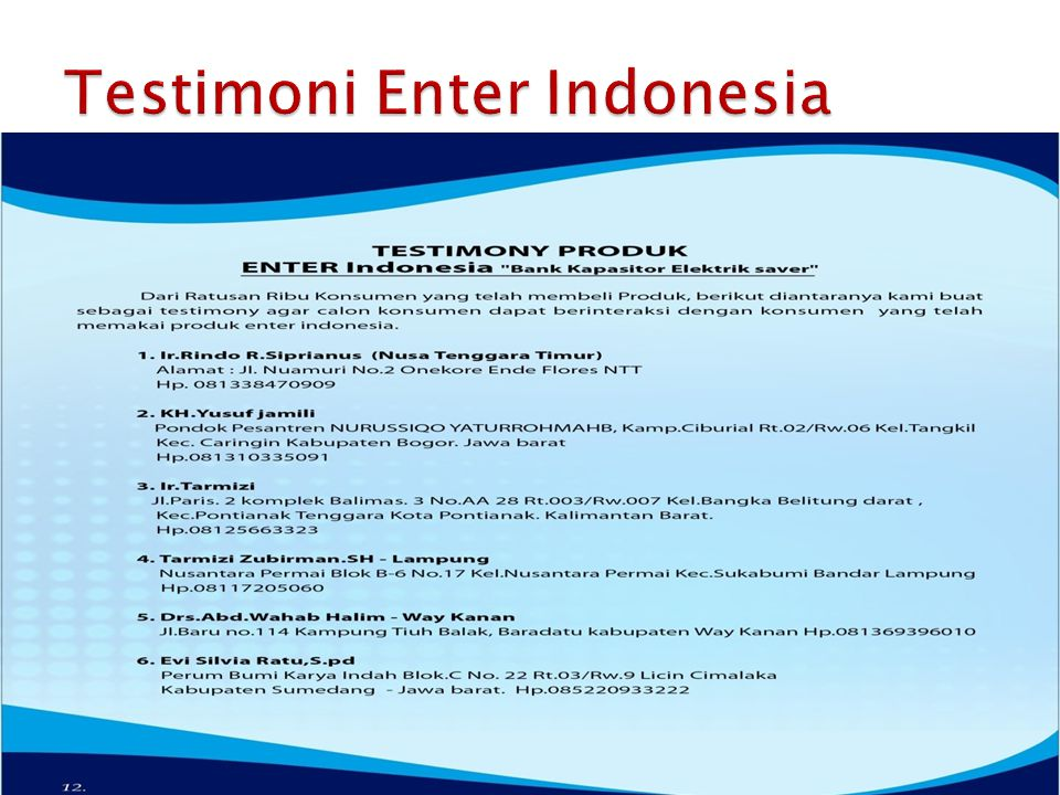 Testimoni Enter Indonesia