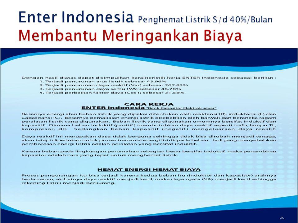 Enter Indonesia Penghemat Listrik S/d 40%/Bulan Membantu Meringankan Biaya
