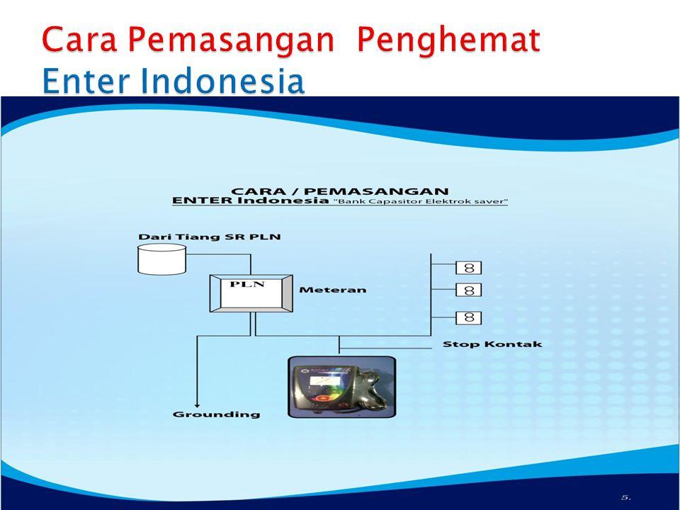 Cara Pemasangan Penghemat Enter Indonesia