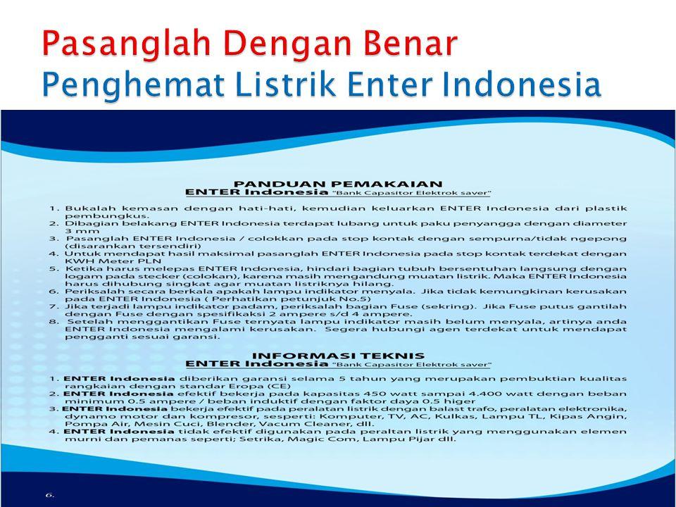 Pasanglah Dengan Benar Penghemat Listrik Enter Indonesia