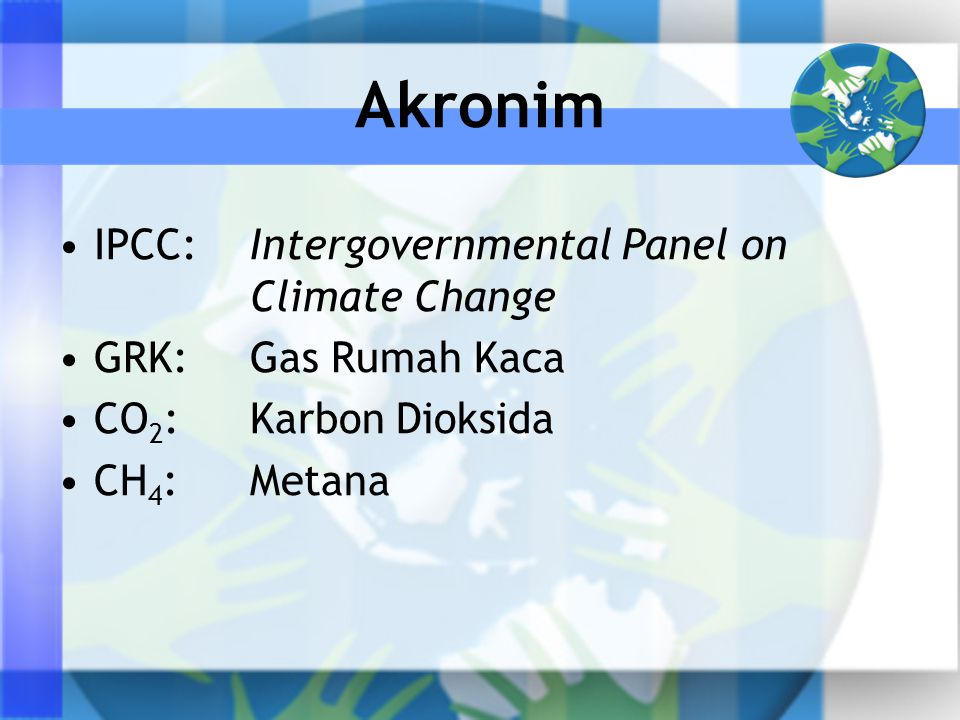 Akronim IPCC: Intergovernmental Panel on Climate Change