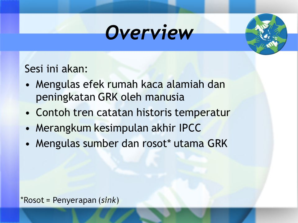 Overview Sesi ini akan: