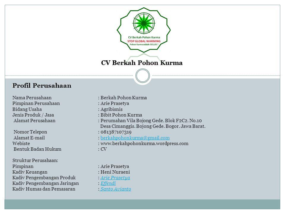 CV Berkah Pohon Kurma Profil Perusahaan