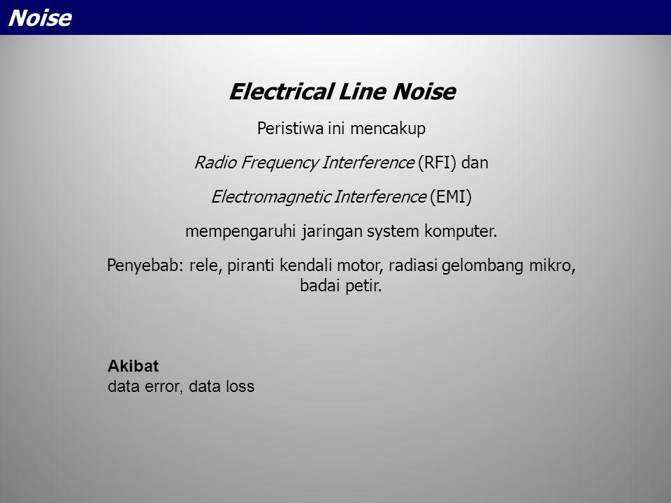 Noise Electrical Line Noise Peristiwa ini mencakup