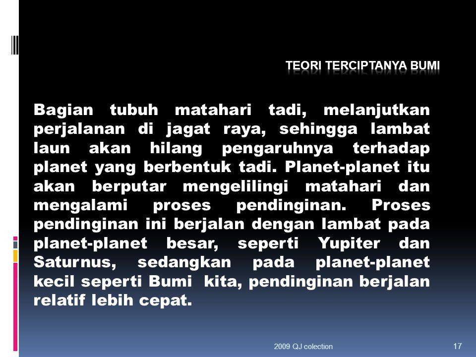 Teori terciptanya bumi