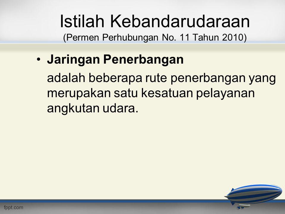 Istilah Kebandarudaraan (Permen Perhubungan No. 11 Tahun 2010)