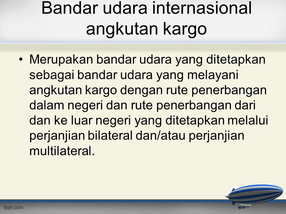 Bandar udara internasional angkutan kargo