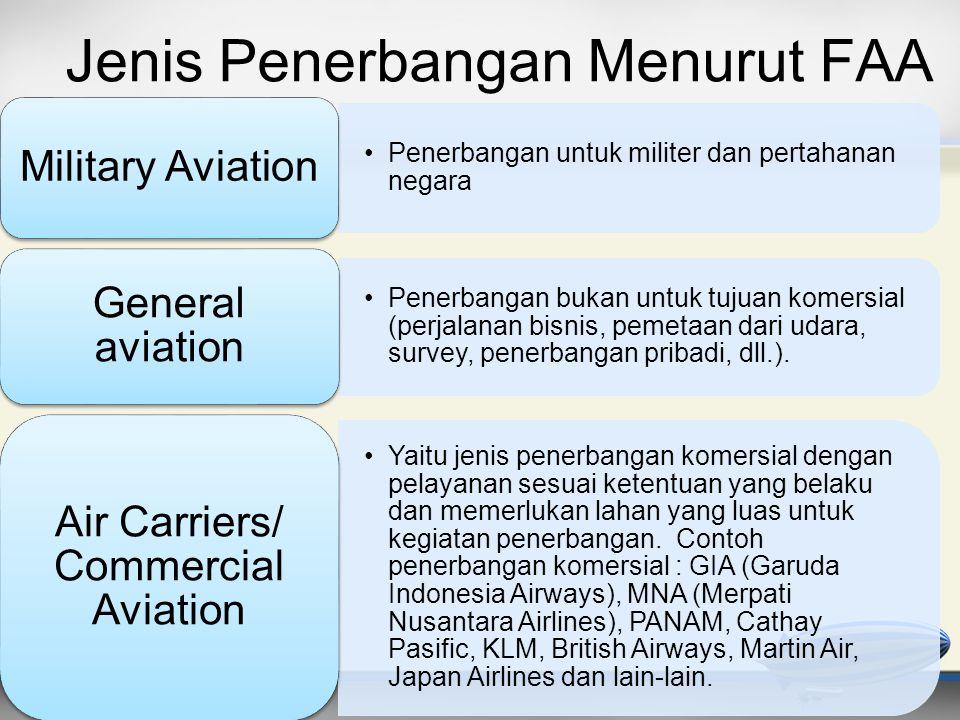 Jenis Penerbangan Menurut FAA
