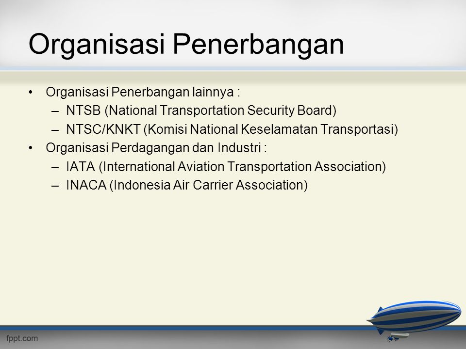 Organisasi Penerbangan