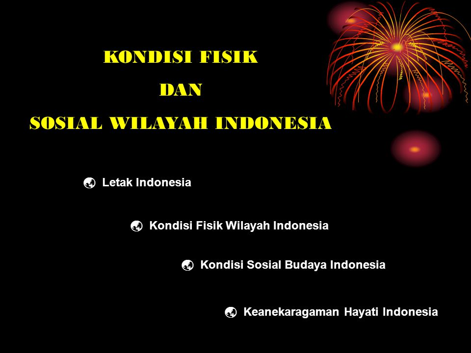 SOSIAL WILAYAH INDONESIA