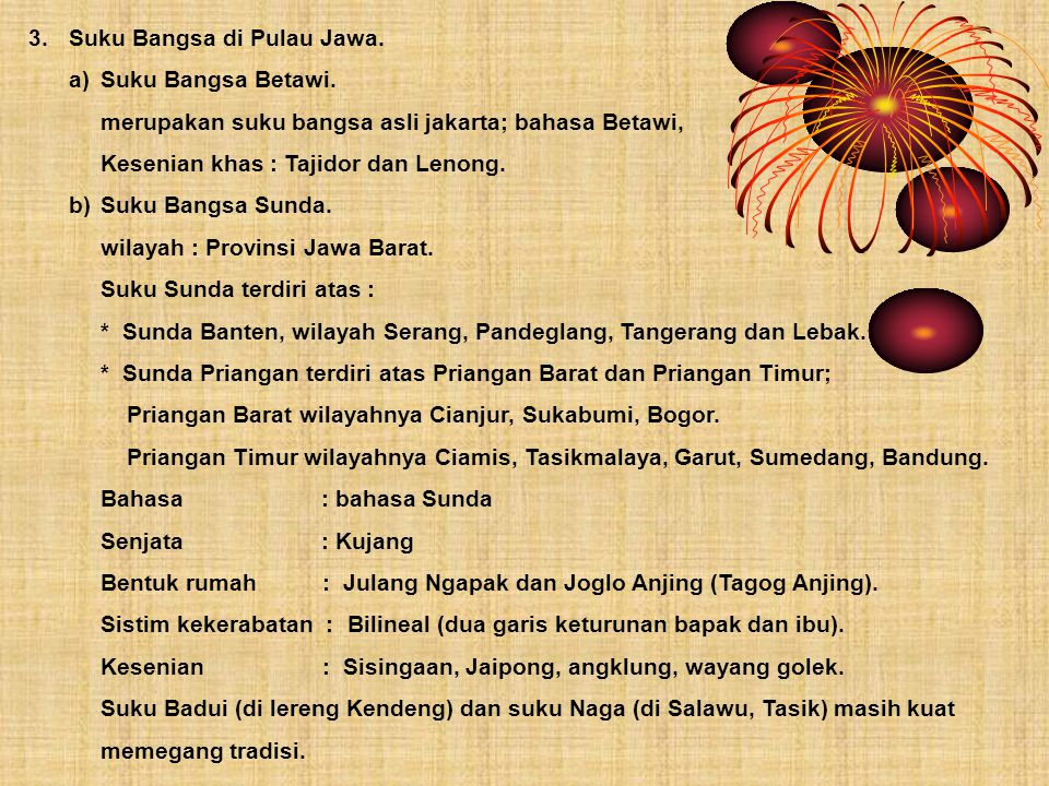 3. Suku Bangsa di Pulau Jawa.