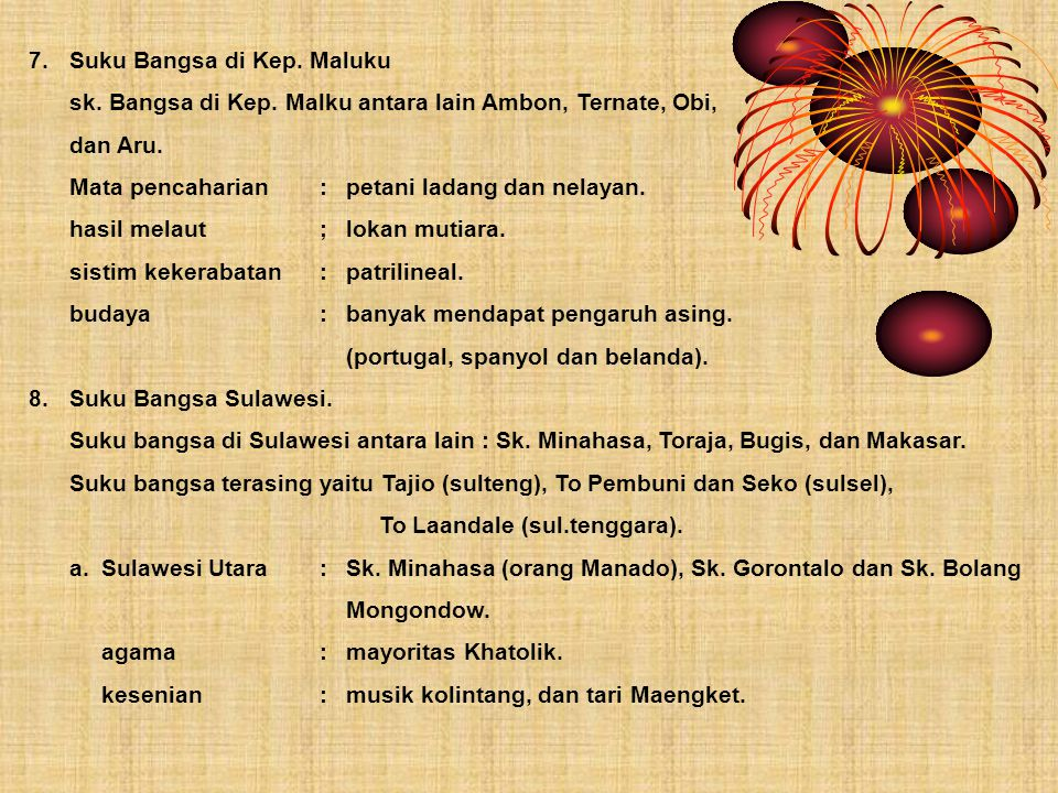 7. Suku Bangsa di Kep. Maluku