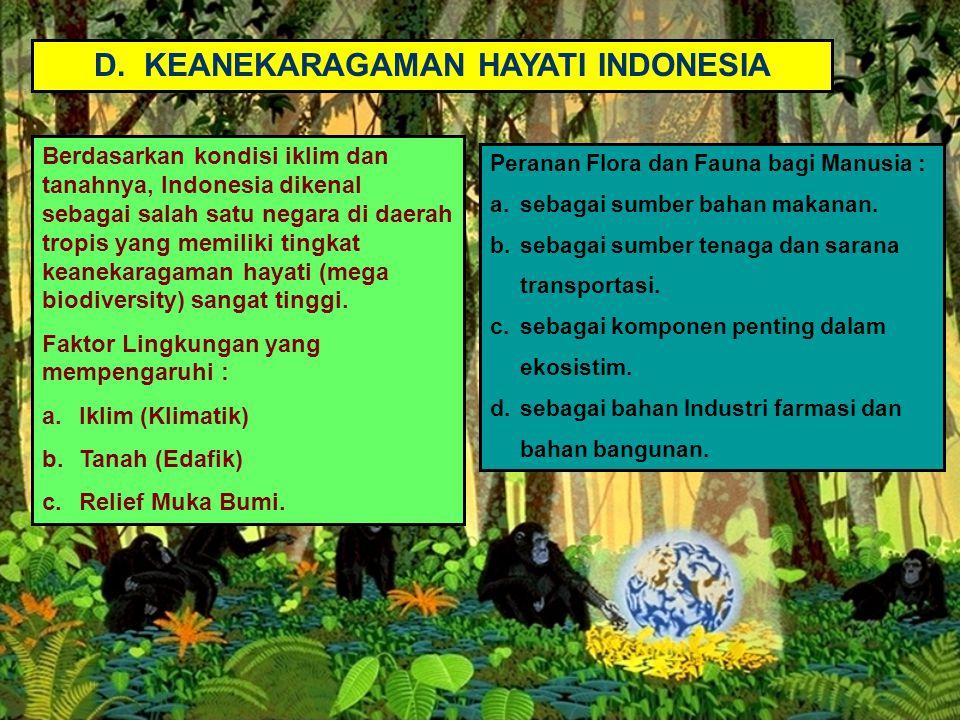 D. KEANEKARAGAMAN HAYATI INDONESIA