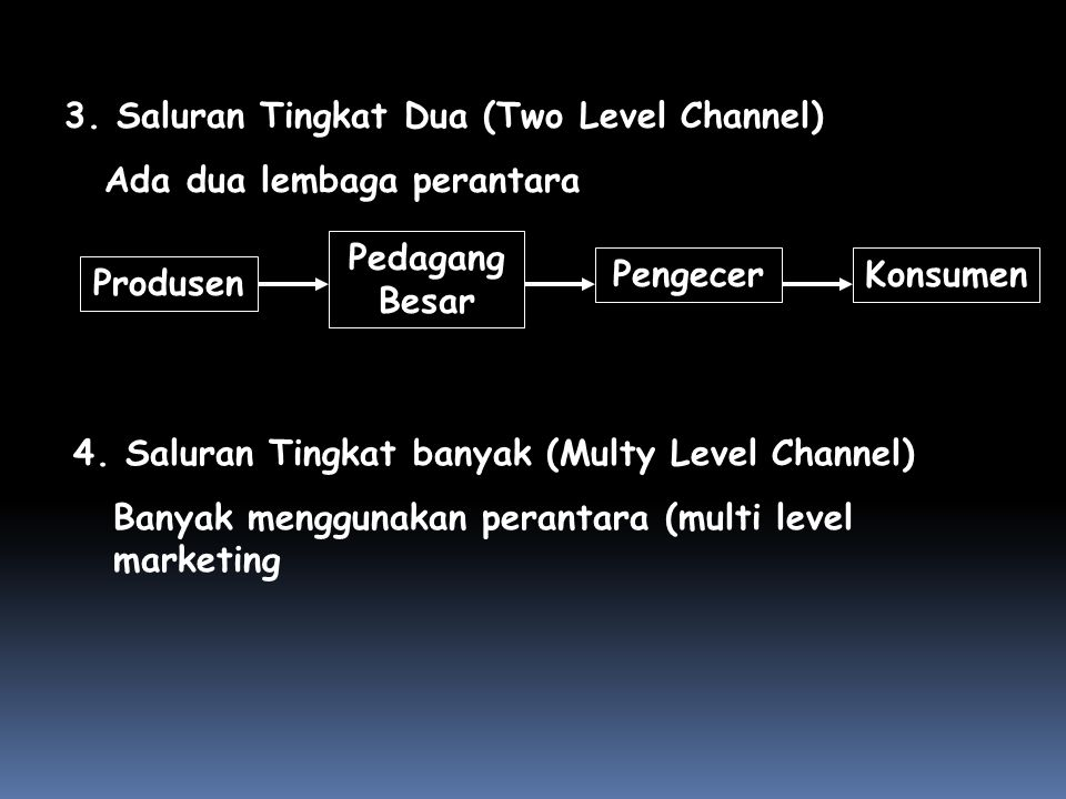 3. Saluran Tingkat Dua (Two Level Channel)