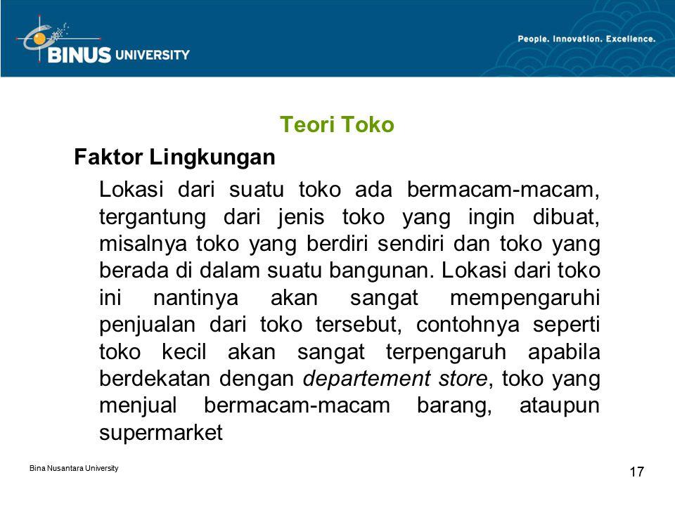 Teori Toko Faktor Lingkungan