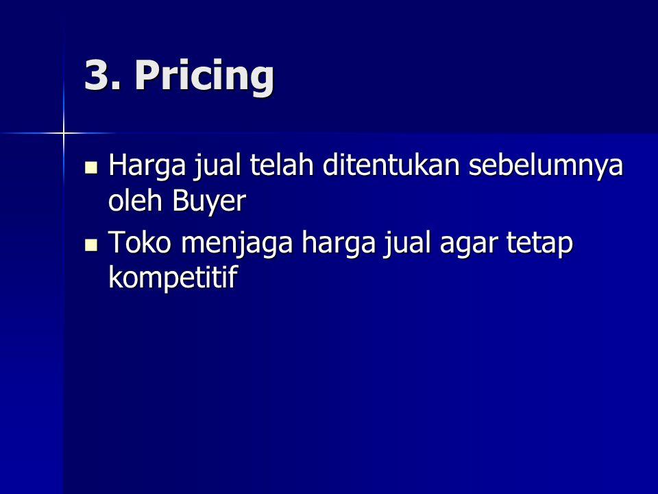 3. Pricing Harga jual telah ditentukan sebelumnya oleh Buyer