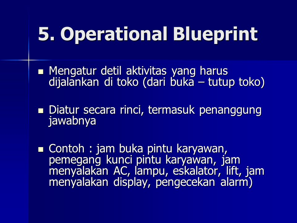 5. Operational Blueprint