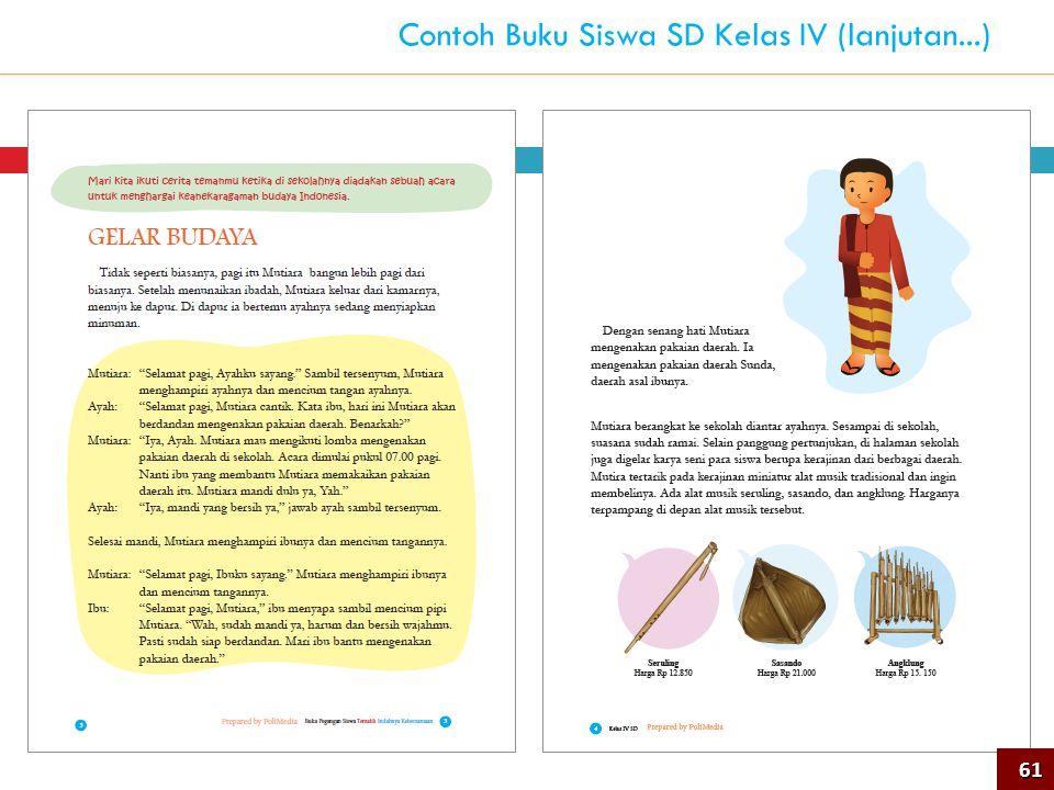 Contoh Buku Siswa SD Kelas IV (lanjutan...)