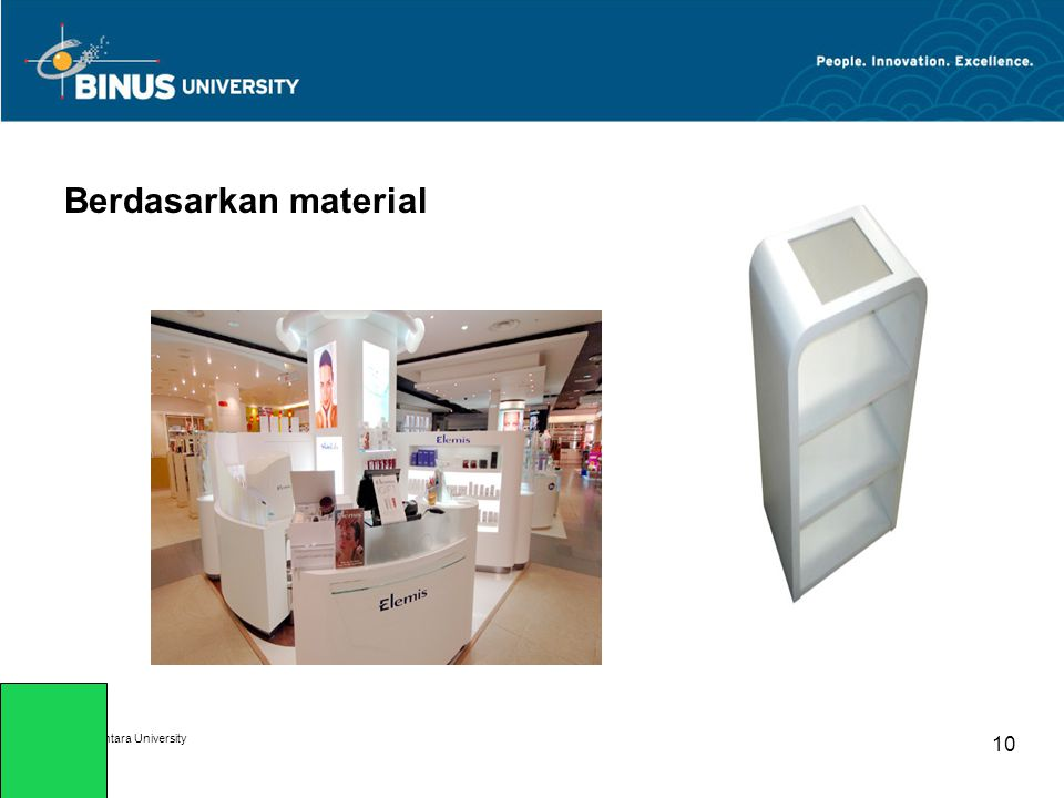 Berdasarkan material Bina Nusantara University