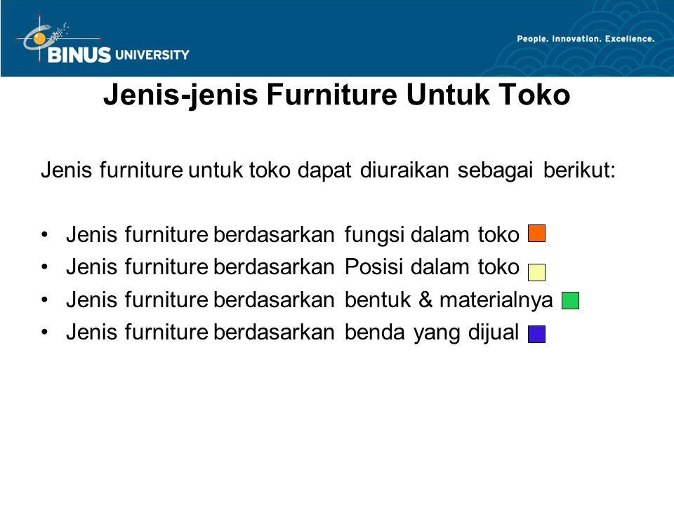 Jenis-jenis Furniture Untuk Toko