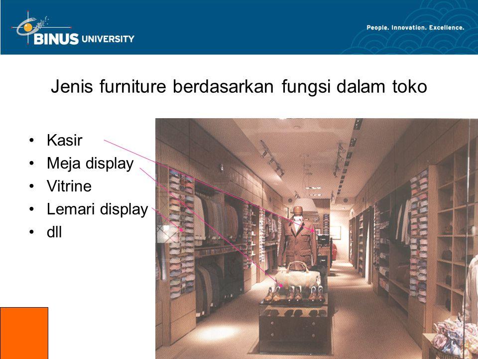 Jenis furniture berdasarkan fungsi dalam toko