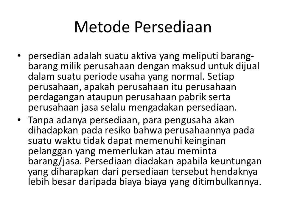 Metode Persediaan