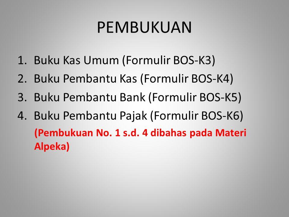 PEMBUKUAN Buku Kas Umum (Formulir BOS-K3)
