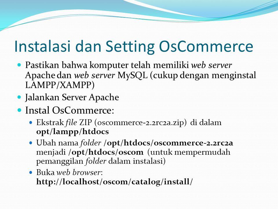 Instalasi dan Setting OsCommerce