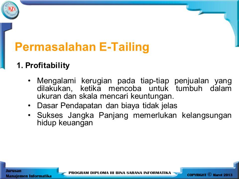 Permasalahan E-Tailing