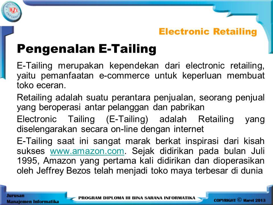 Pengenalan E-Tailing Electronic Retailing