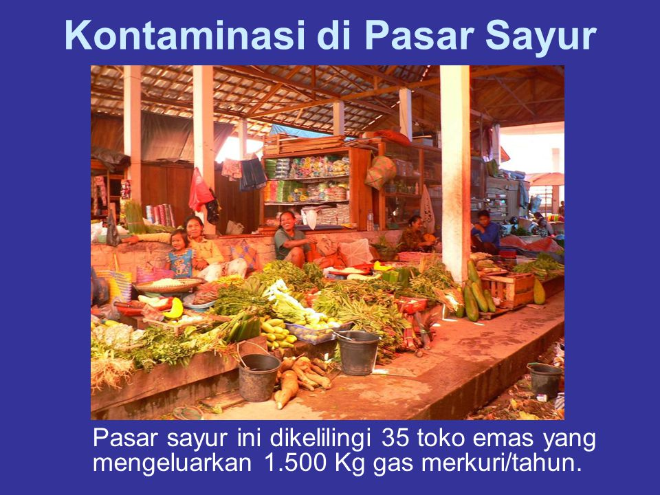 Kontaminasi di Pasar Sayur