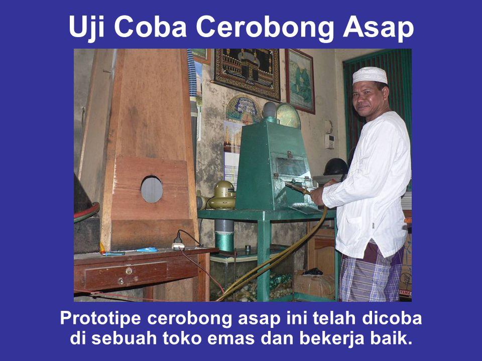 Uji Coba Cerobong Asap Prototipe cerobong asap ini telah dicoba di sebuah toko emas dan bekerja baik.
